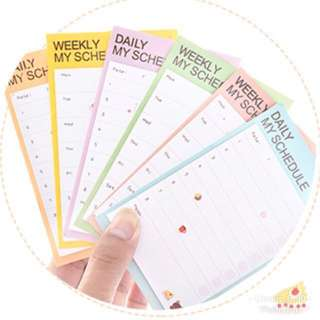 Korea Daily / weekly sticky memo pad