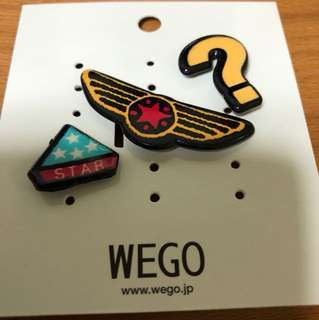 Pins for bags and jackets