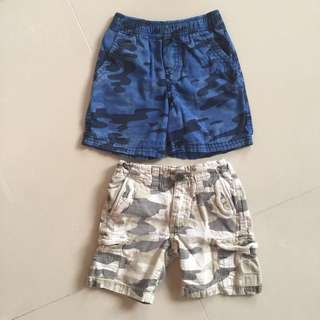 Boy's Shorts camouflage 2T ($5 each)