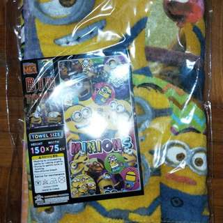 Minion towel from japan