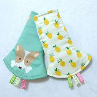 Drool Pads - Dog and Pineapple Design