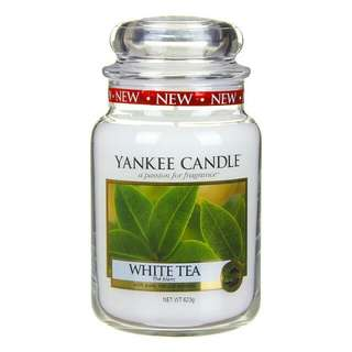 Yankee Candle and Linear Leaves Barrel Jar Candle Shade