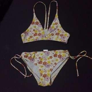Yellow floral bikini