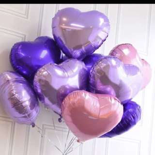 Valentine's Day Promo - helium filled heart foil balloons