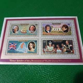 1977 Silver Jubilee Of The Accession Of H.M.Queen Elizabeth II Miniature sheet