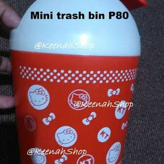 Mini trash bin (hello kitty)