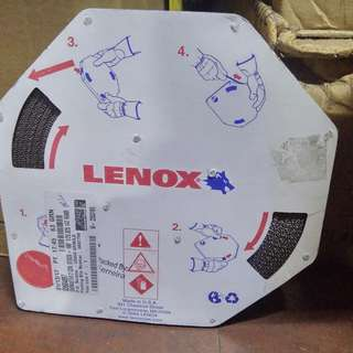 """Lenox - 14 Teeth per Inch, Toothed Edge, Bi-Metal Band Saw Blade Coil Stock 1/2"""" Wide x 0.025"""" Thick x 100' Coil Length, Raker Tooth Set, Contour Cutting, Flexible Back"""