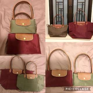 Original Longchamp medium and large Tote Bag