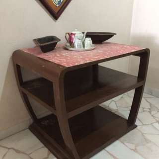 Red formica coffee table