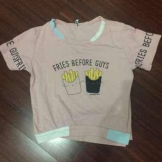 tshirt fries before guys