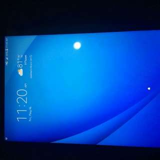Samsung tab E     7 months used   no scratch   no damage  need funds. Locked with at&t with  charger and case.