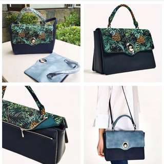Preorder authentic Zara with interchangeable flap bag