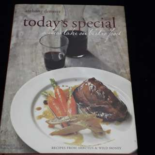Anthony Demetre Today's Special Cookbook