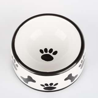 SWAGGYTAILS The Paws & Bones Collection - Round Dish