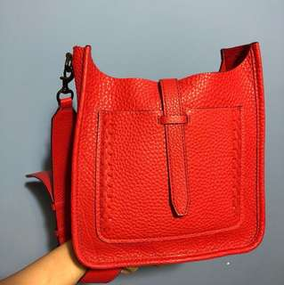 Rebecca Minkoff red handbag (real and leather)