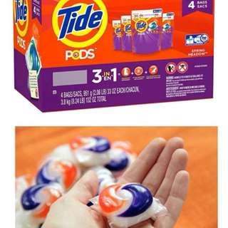 美國Tide pods3合1洗衣球38粒