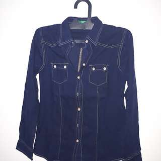 Kemeja Denim Point One