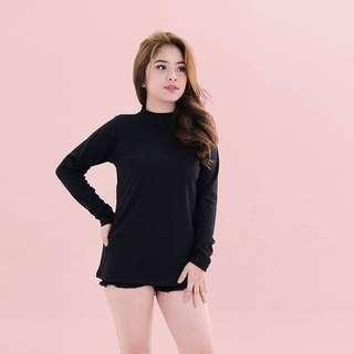 HTP Plain Black Pullover