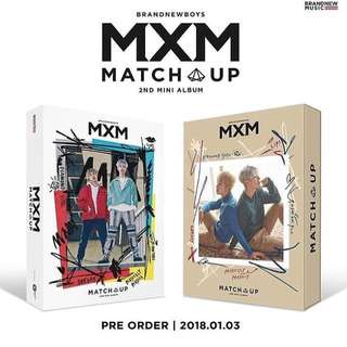 MXM 2st Mini Album Match Up 代購
