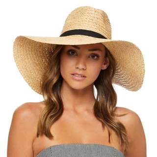 Kookai Wide Brim Beach Hat - Natural