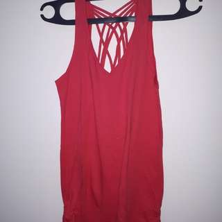 Tank top backless (shocking pink)