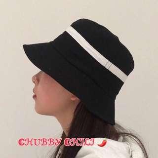 ⚖️黑白條紋撞色漁夫帽⚖️