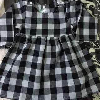 Grid Dress for baby girl