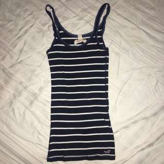 Hollister Sleeveless top (Stripes)