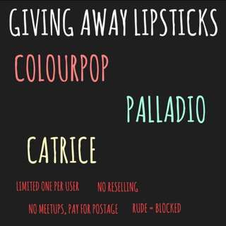 FREE | giving away lipsticks!!