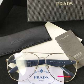 Prada 🔥Clearance🔥 Computer Eye Protection Glass Anti-Fatigue Eyewear Spectacle PC Lens Frame Degree Prescription Available