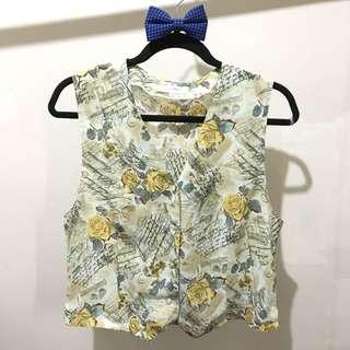 Yellow Floral Vest