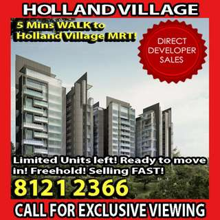 🌟READY TO MOVE IN FREEHOLD Condominium! SHORT STROLL to EXPLORE HOLLAND VILLAGE and GET HOME just via WALKING!! LIMITED UNITS AVAILABLE DUE TO HIGHLY DEMANDED LOCATION!! EASILY ACCESSIBLE to all parts of SG via CTE, PIE, SLE, AYE, ECP!🌟