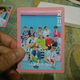 WANNA ONE TO BE ONE GROUP PHOTOCARD