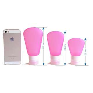 Silicone Bottle/ Tube Travel Set (3 in a set)