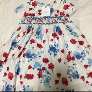 Next baby floral dress 12-18month (86cm)