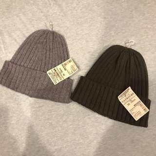 無印良品muji 可水洗針織帽 毛線帽 毛帽