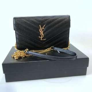 Ysl woc 19cm black caviar