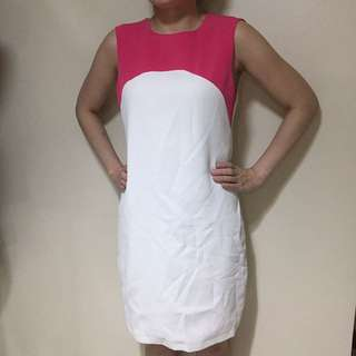 Zara pink/white dress