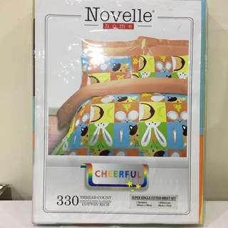 Novelle Super Single Fitted Sheet Set