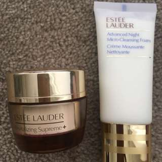 ESTÉE LAUDER Advanced Night Cleansing Foam 30mls and Revitalising Supreme Cream 15mls