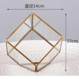 Gold Geometric Glass