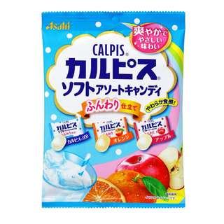 (全新訂購) 日本製造 Asahi CALPIS 雜錦軟糖 81g (6 包裝)