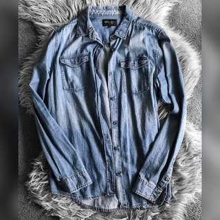 Wrangler denim style work shirt