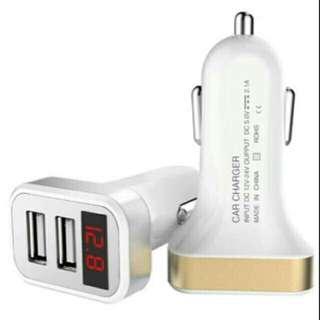 USB charger mobil 12 v 2 port