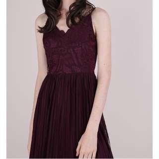 The Tinsel Rack Halia Lace Maxi Dress