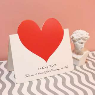 Anniversary / Valentine's Day Red Heart Card Instock