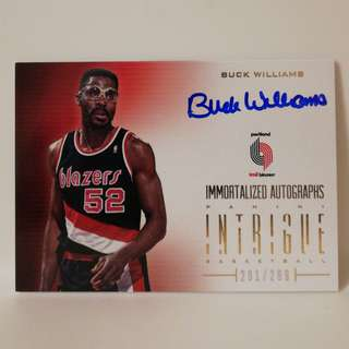 Panini NBA Basketball Autograph #/299 Buck Williams Portland