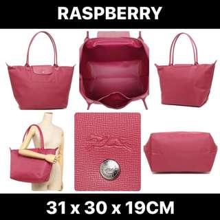 【SALE】Longchamp Le Pliage Neo Long Handle Large Raspberry 1899 578 232