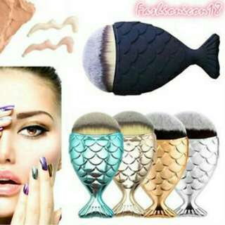 Mermaid scale makeup brush