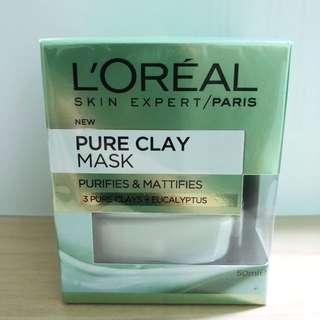Loreal Paris Skin Expert Pure Clay Mask Purifies & Mattifies